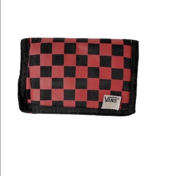 Red and Black checkered Vans Velcro wallet